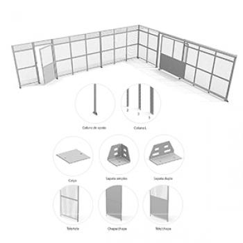 Divisória Para Sistemas De Armazenagem em Poços de Caldas