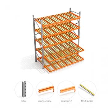 Sistema De Armazenagem Flow Rack em Barueri